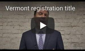 Vermont Registration Title