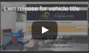 vehicle lien release video